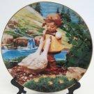 Hummel Goose Girl Collectors Plate Gentle Friends Collection 23K Gold Trim Danbury Mint Registered