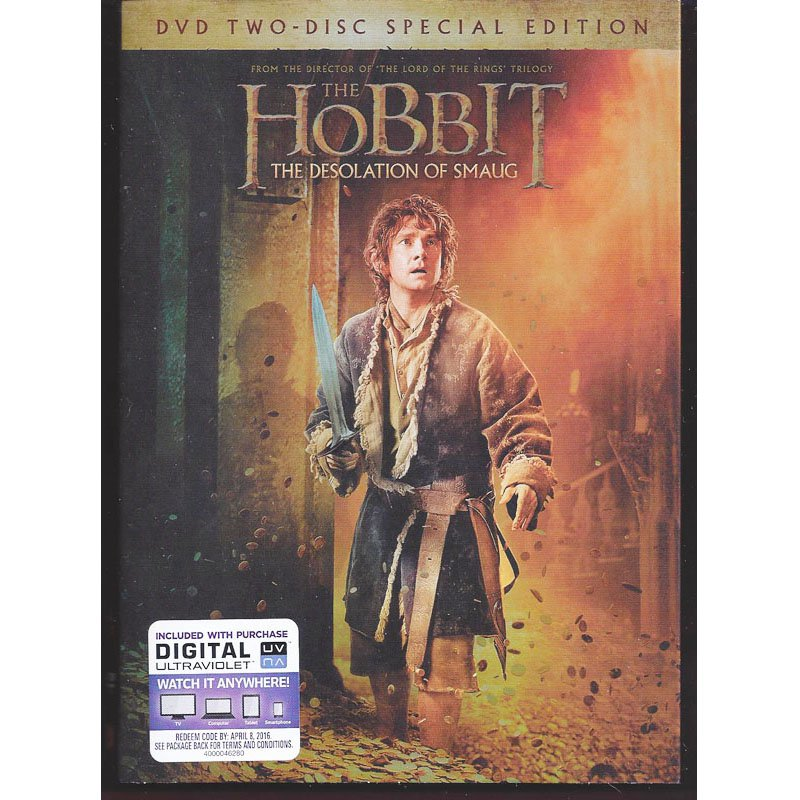 The Hobbit The Desolation of Smaug DVD 2-Disc Special Edition Ian McKellen Orlando Bloom New Sealed