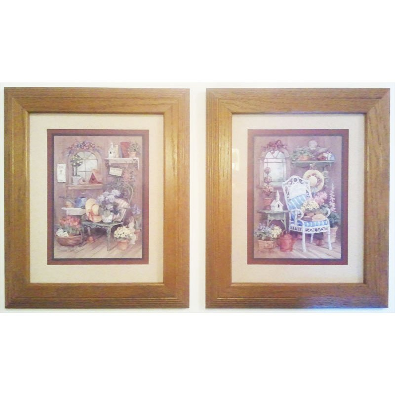 Barbara Mock Framed Prints Love Grows In A Garden Home Interiors Wall Art Set Of 2 Pictures