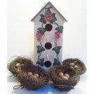 Decorative Birdhouse Set with Nests Vintage Home Interiors 5pc Set 12inH