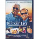 The Bucket List DVD Jack Nicholson Morgan Freeman Sean Hayes Rob Morrow Widescreen and Full Screen