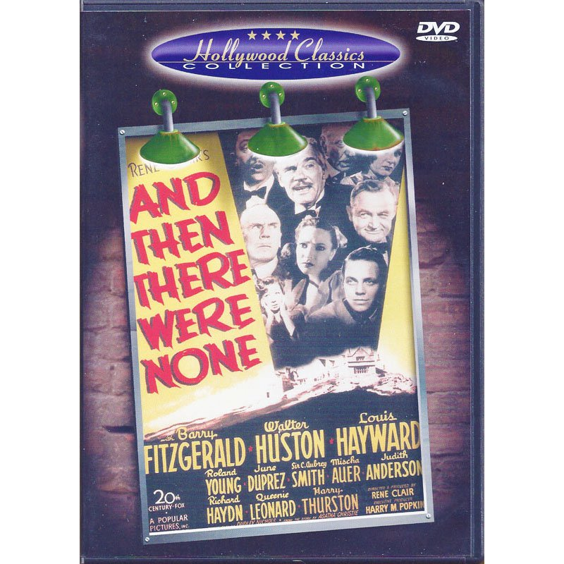 Agatha Christie's And Then There Were None DVD Barry Fitzgerald Walter Huston Louis Hayward 1945 B&W