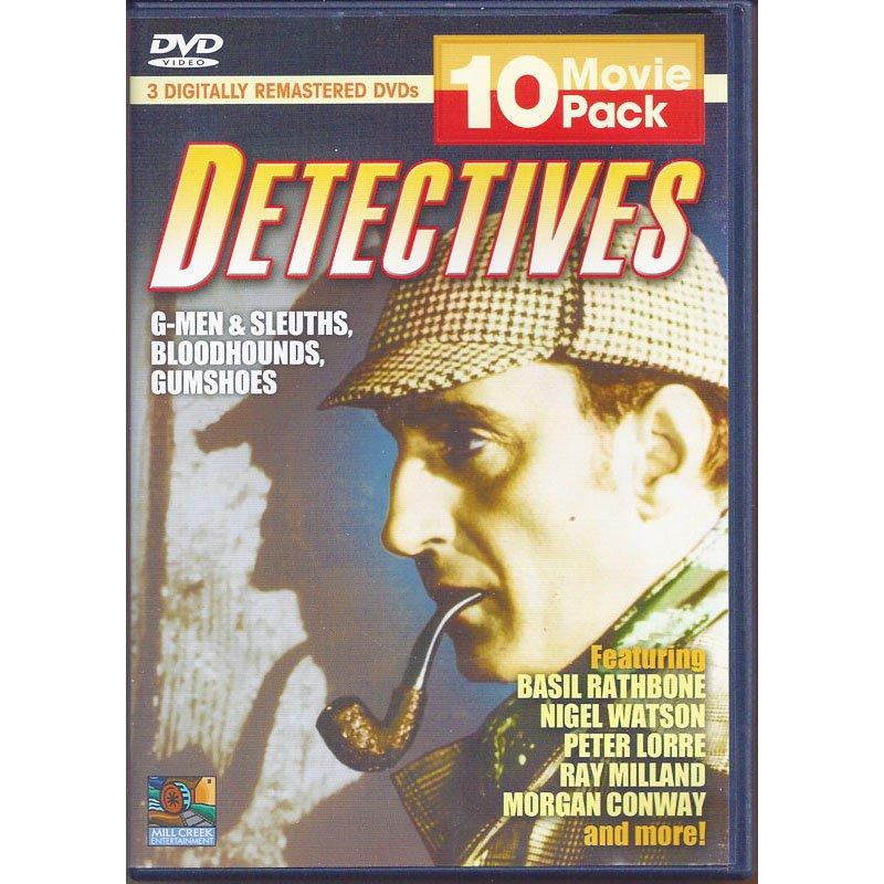Detectives 10 Movie Pack 3-DVD Box Set Sherlock Holmes peter Tracy Mr Moto Bulldog Drummond B&W