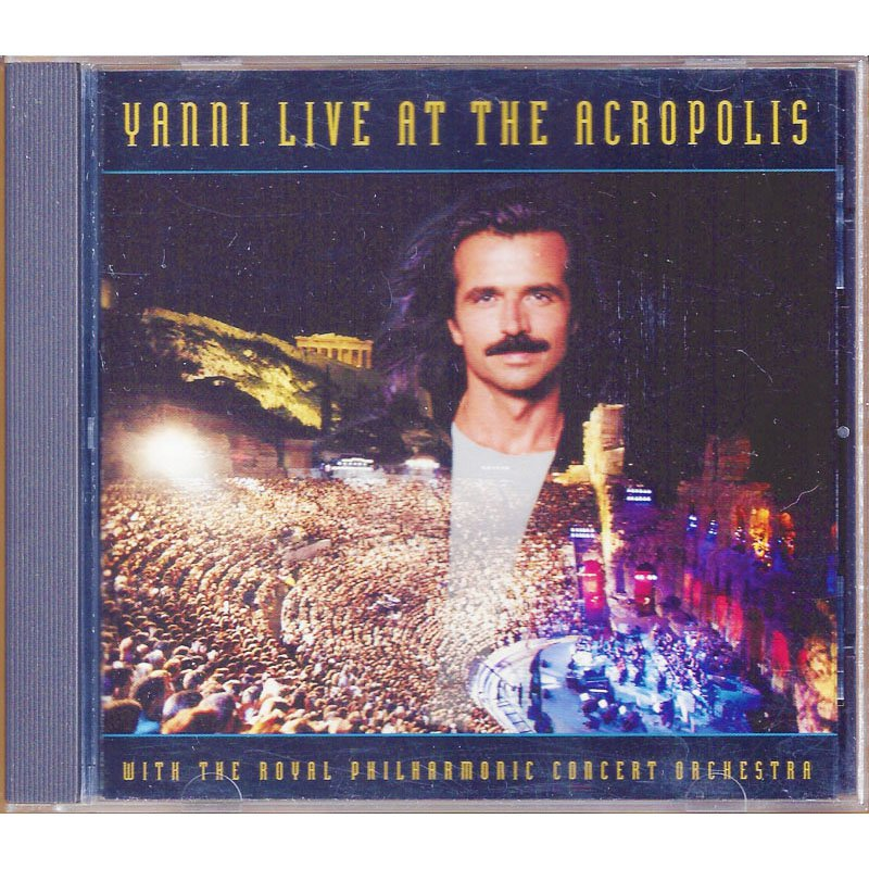 Yanni Live at the Acropolis with The Royal Philharmonic Concert Orchestra CD 1994 Club Edition