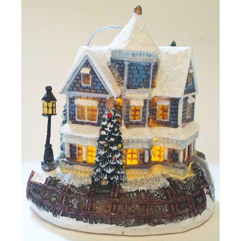 Thomas Kinkade Lighted Christmas Ornament A Holiday Gathering