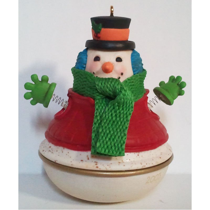 Snowman Surprise Hallmark Keepsake Christmas Ornament 2003 Collectible QXG8807 NIB