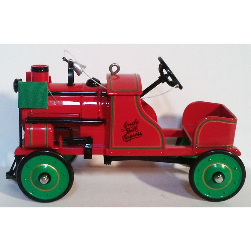 Pedal Car Christmas Ornament Hallmark Keepsake Kiddie Car Classics 1928 Jingle Bell Express 2002 NIB