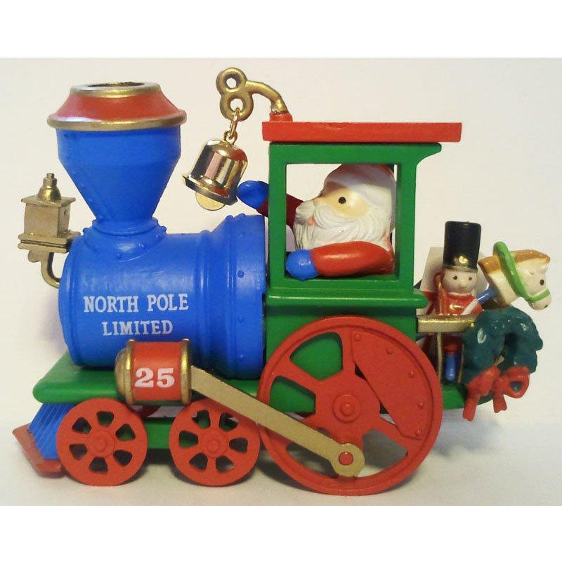 Santa Train Ornament Christmas Express Train Engine Carlton Cards Heirloom