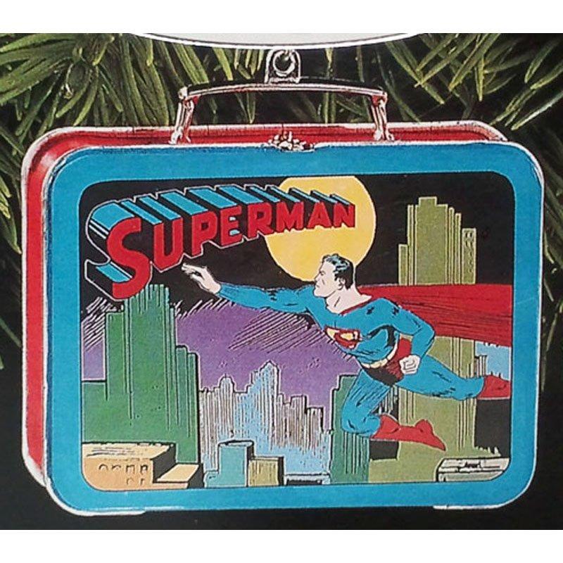 Superman Lunch Box Ornament Hallmark Keepsake Christmas Ornament 1998 Vintage Collectible QX6423