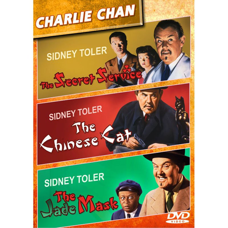 Charlie Chan Collection DVD Sidney Toler The Secret Service The Chinese Cat The Jade Mosk