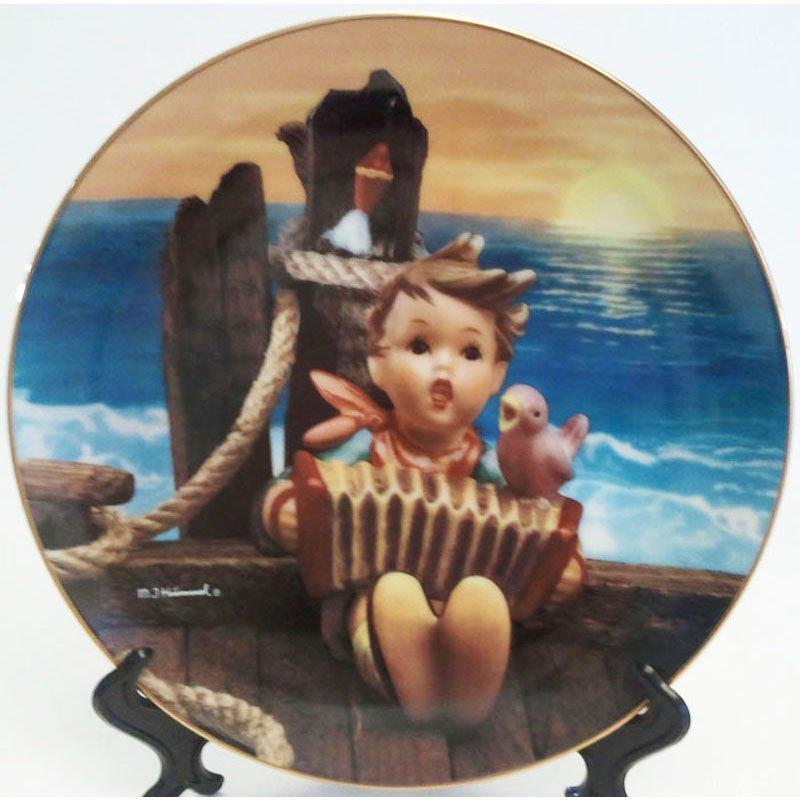 Hummel Let's Sing Collectors Plate Gentle Friends Collection 23K Gold Trim Danbury Mint Registered