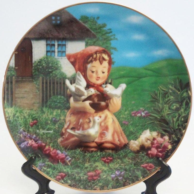 Hummel Cinderella Collectors Plate Gentle Friends Collection 23K Gold Trim Danbury Mint Registered