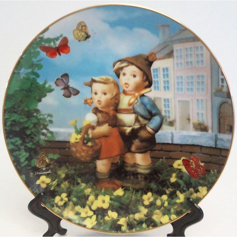 Hummel Surprise Collectors Plate Little Companions 23K Gold Trim Danbury Mint Registered