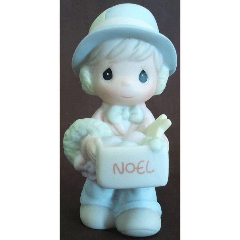 Sugar Town Dusty Boy with Ornaments Precious Moments Figurine Signed Butterfly 1993 529435 NIB