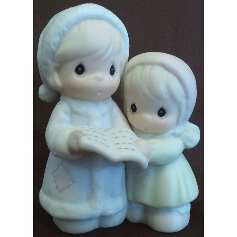 Sugar Town Aunt Ruth and Aunt Dorothy Carolling Precious Moments Figurine Signed Trumpet 1994 529486