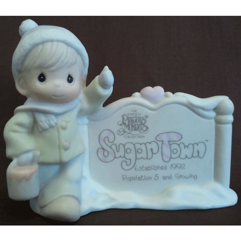 Sugar Town Sam Butcher Painting Sign Precious Moments Figurine Signed G-Clef 1992 529567 NIB