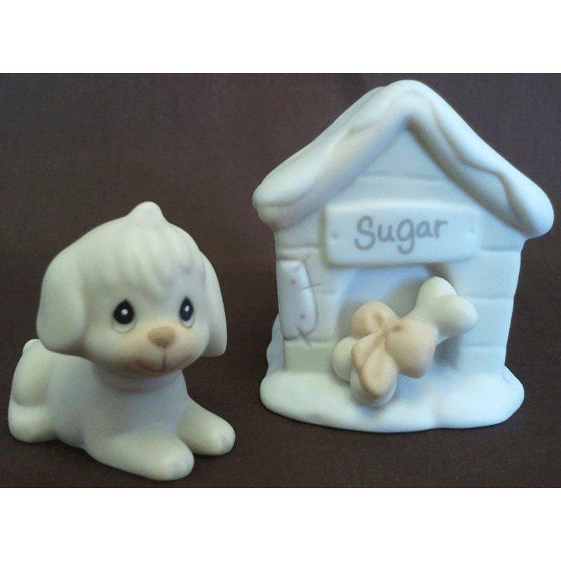 Sugar Town Sugar and Her Doghouse Precious Moments Figurine Signed Trumpet 1994 Enesco 533165 NIB