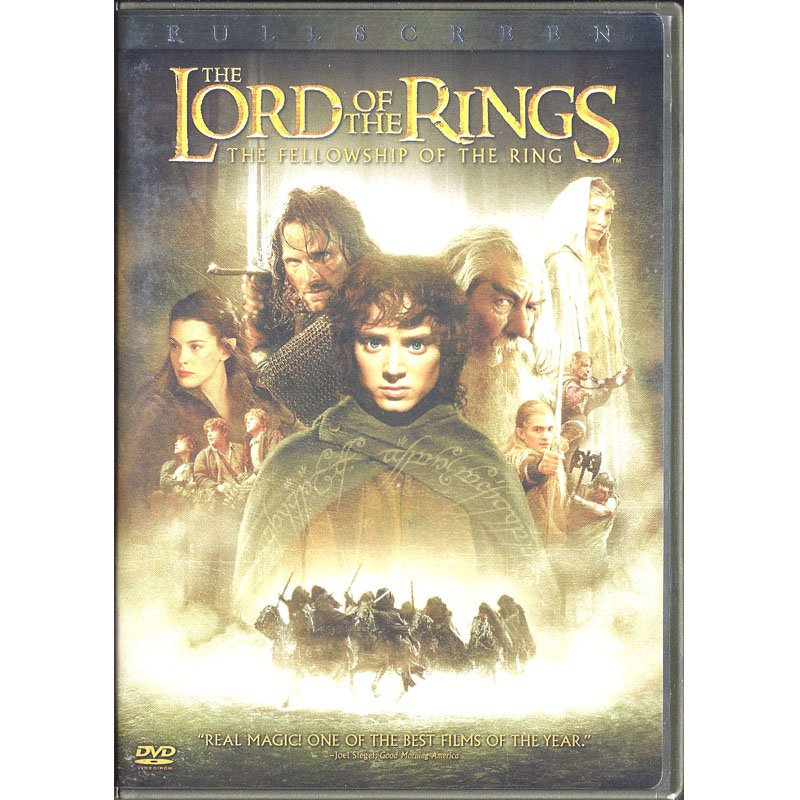 The Lord of the Rings: The Fellowship of the Ring DVD Fullscreen Elijah Wood Viggo Mortenson