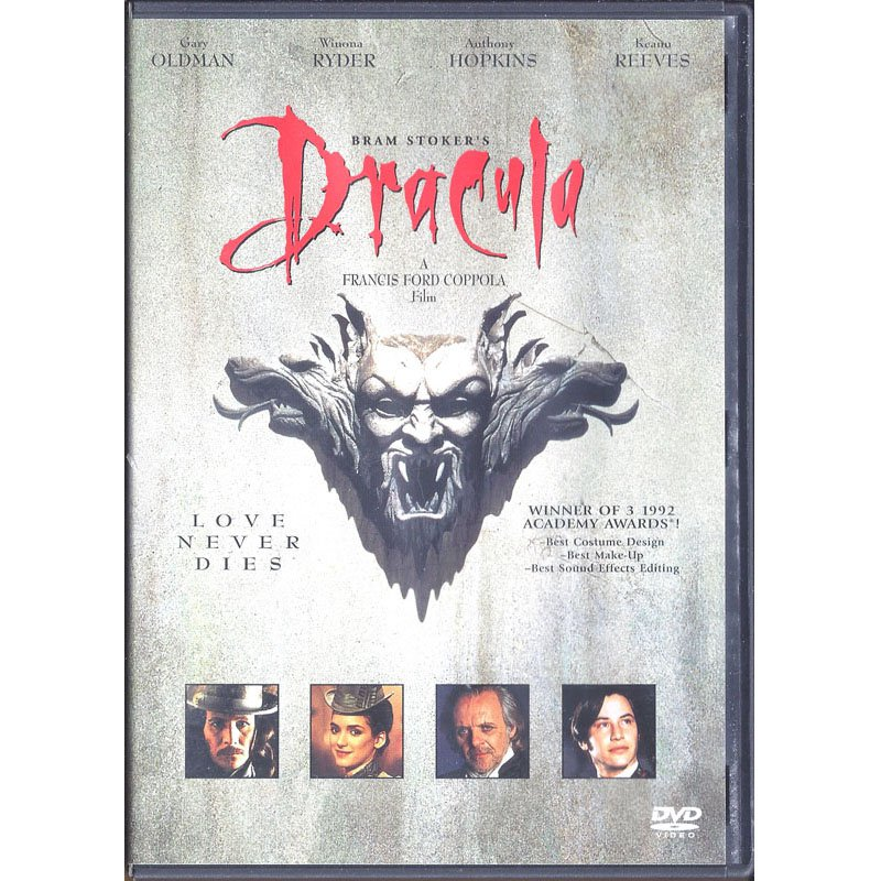 Bram Stoker's Dracula DVD Widescreen Gary Oldman Winona Ryder Anthony Hopkins Keanu Reeves