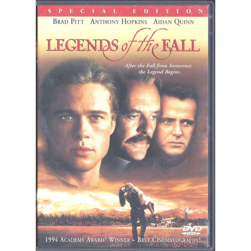 Legends of the Fall Special Edition DVD Widescreen Brad Pitt Anthony Hopkins Aidan Quinn 2000
