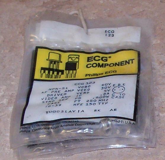 ECG 123 NPN Transistor