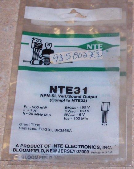 NTE 31 NPN Sound Vertical Output Transistor