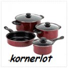 Nonstick Burgandy Cookware