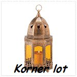 Copper Finish Candle Lantern