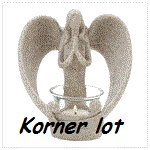 Stone-look Angel Candle Holder