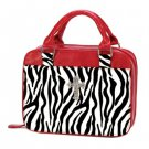 Bible Tote Red and Black Zebra Print