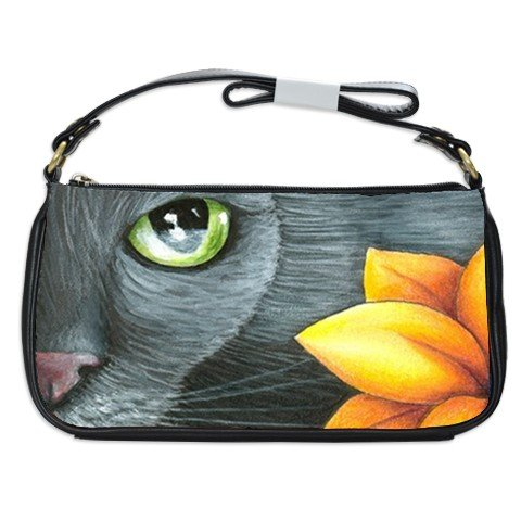 Shoulder Clutch Bag Purse from painting Cat 507