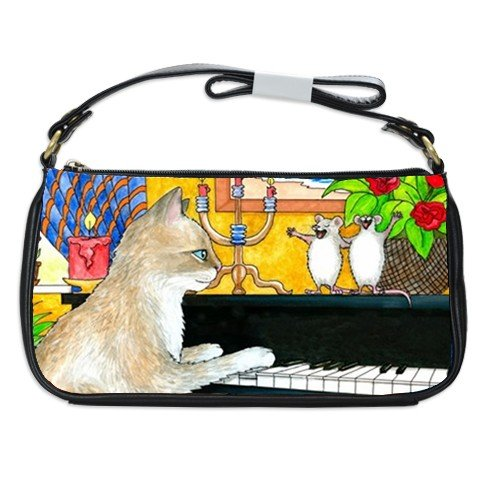 Shoulder Clutch Bag Purse from painting Cat 506 mouse