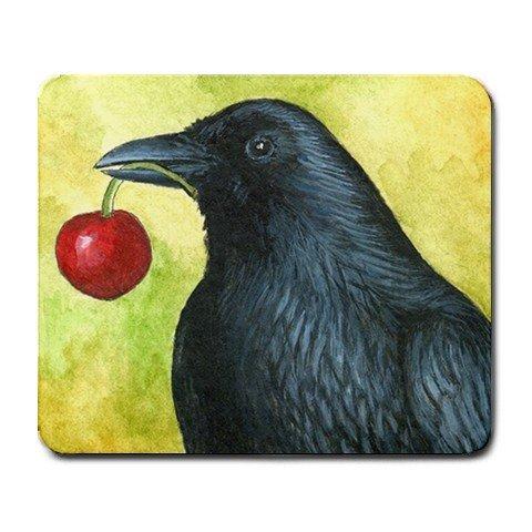 Mousepad from art design Bird 55 crow raven