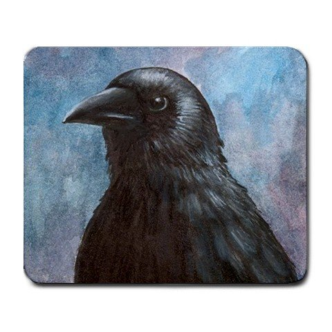 Mousepad from art design Bird 59 crow raven