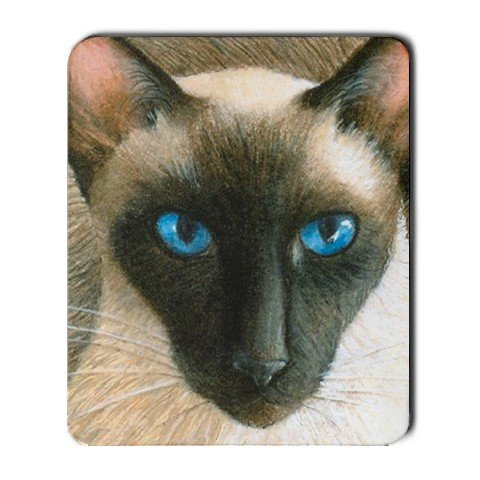 Mousepad from art design Siamese Cat 377