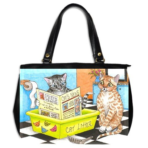 Office Handbag Purse from art Cat 464 bathroom art