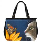 Office Handbag Purse from art painting Cat 541 butterfly