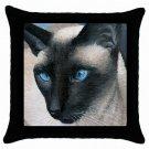 Throw Pillow Case from art Siamese Cat