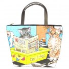 Bucket bag Purse from funny art painting Cat 464