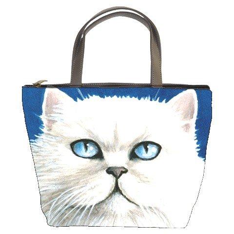 Bucket bag Purse from art painting Cat 502 Persian