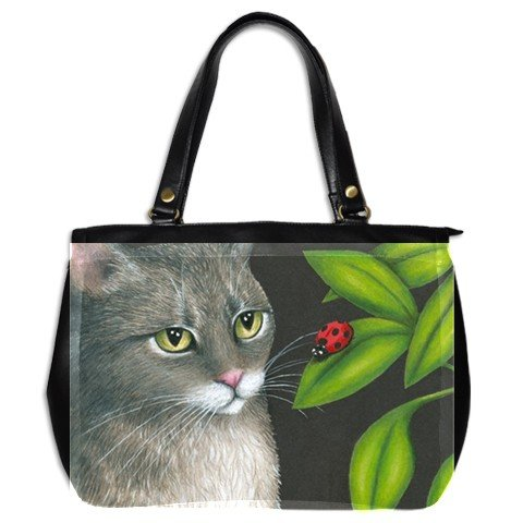 Office Handbag Purse from art painting Cat 543 ladybug