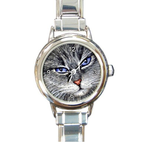 Round Italian Charm Watch from art painting Cat 52