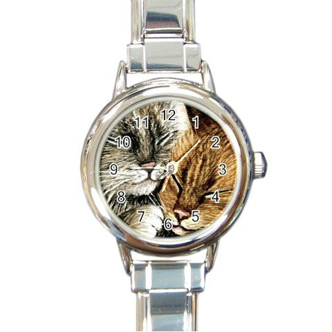 Round Italian Charm Watch from art painting Cat 265