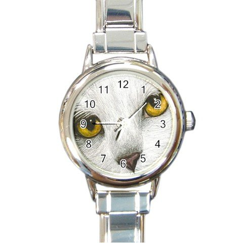 Round Italian Charm Watch from art painting Cat 267