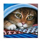 Ceramic Tile Coaster from art painting Cat 258