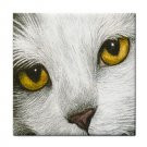Ceramic Tile Coaster from art painting Cat 267