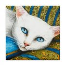 Ceramic Tile Coaster from art painting Cat 302