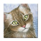 Ceramic Tile Coaster from art painting Cat 391