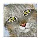 Ceramic Tile Coaster from art painting Cat 393