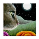 Ceramic Tile Coaster from art painting Cat 403